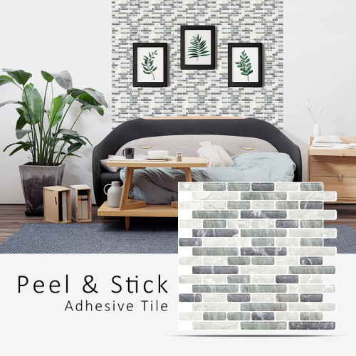 Peel and Stick Tile | Mixed Rectangle Stone | EX-PM1001/1002