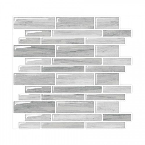 Peel and Stick Tile Backsplash, Mosaic Wall Sticker, Mixed Rectangle Stone Tile, PM2003
