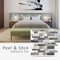 Peel and Stick Tile | Mixed Rectangle Stone | EX-PM2001