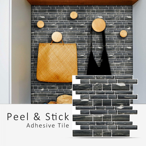 Peel and Stick Tile | Mixed Rectangle Stone | EX-PM2002