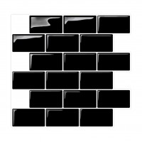 Peel and Stick Tile | Flat Black | EX-PM3002