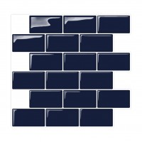 Peel and Stick Tile | Flat Navy  | EX-PM3003