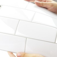 Peel and Stick Tile | Flat White Stone | EX-PM4002