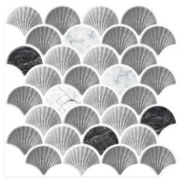 Peel and Stick Tile - Scallop shaped