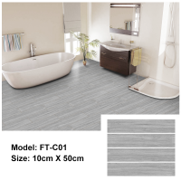Peel and Stick Floor Tile | FT-C01 | Ashen Wood Texture