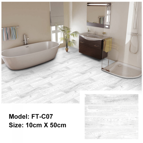 Peel and Stick Floor Tile | FT-C07 | Pale Wood Texture