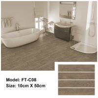 Peel and Stick Floor Tile | FT-C08 | Light Brown Wood Texture