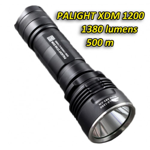 PALIGHT XDM 1200  Super-bright Flashlight  (500m / 1380 Lumens)